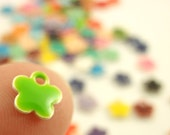 25 - 6mm  Colorful Flower Drops - Handcrafted Jump Rings Included - 100% Guarantee