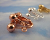 4 Pairs Clip On Earrings with Adjustable Screwback - Silver Plate, Gold Plate, Copper and Gunmetal - These are the Best