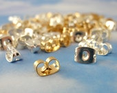 50 Pairs Silver or Gold Plated Ear Nuts, Backs, Clutches, Things