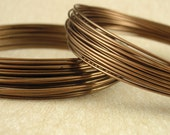 Premium Antique Brass Colored Wire Half Hard Non Tarnish - You Pick Gauge 20, 22, 24, 26 - 100% Guarantee