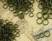 SALE  200 Olive Jump Rings - You Pick 18 or 20 Gauge and Most Any Diameter