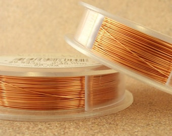 Non Tarnish Copper Artistic Wire - 1/4 lb - Permanently Colored - You Pick Gauge 18, 20, 22, 24, 26, 32 - 100% Guarantee
