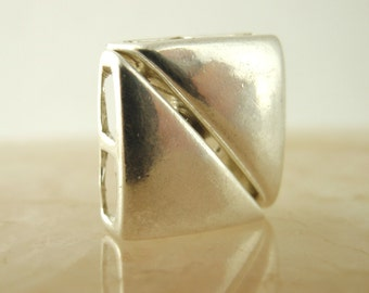 1 Magnetic Sterling Silver Square Clasp - Shiny or Antiqued - 11mm - Best Commercially Made - 100% Guarantee