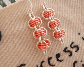 Three Connector Barrel Weave Chainmaille Earring Kit - Perfect for Beginners But Fun for Everyone