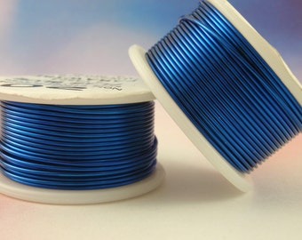 Flag Blue Wire - Enameled Coated Copper - 100% Guarantee - YOU Pick the Gauge 18 - 20 - 24 - 26