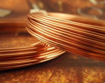 SALE Premium HALF HARD Non Tarnish Copper Wire - You Pick Gauge 20, 22, 24, 26 - 100% Guarantee