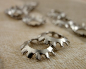 10 Steampunk Washers - 13mm - Stainless Steel - 100% Guarantee