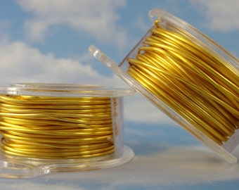 Yellow Colored Wire - Non Tarnish Enameled Coated Copper - YOU Pick the Gauge 18, 20, 28, 30, 32 - 100% Guarantee