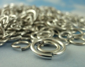 100 14 gauge Custom Handmade Aluminum Jump Rings YOU PICK Diameter - Top Shelf Quality!