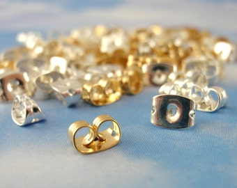 30 Pairs Silver, Gold or Antique Plated Ear Nuts, Backs, Clutches, Things