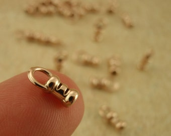10 Bronze Cord Crimp Ends - Made in the USA You Pick Size 1mm, 1.5mm, 2mm, 2.5mm, 3mm