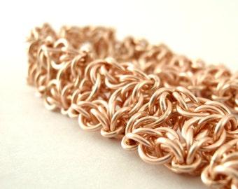 14kt Rose Gold Filled Celtic Labyrinth Chainmaille Bracelet - Kit or Ready Made