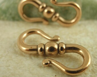 Bronze S Hook Clasp - 20mm - Made in the USA - Quantity 1