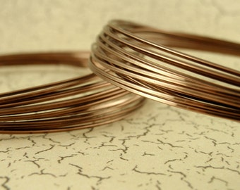 Premium Antique Brass Wire - SQUARE - Half Hard - You Pick Gauge 20, 21, 22, 24 - 100% Guarantee