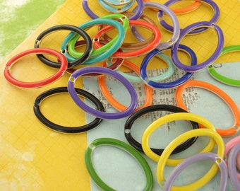25 - 22mm X 15mm  Open Oval Drops- Handcrafted Jump Rings Included - 100% Guarantee