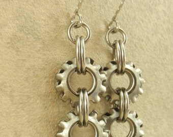 SALE On The Edge Steampunk Earring Kit - Your Choice of Colors - Modern Chainmaille