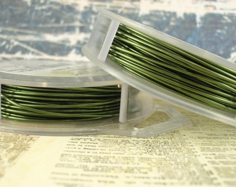Olive Artistic Wire - Permanently Colored - You Pick Gauge 18, 20, 22, 24, 26, 28, 34 – 100% Guarantee