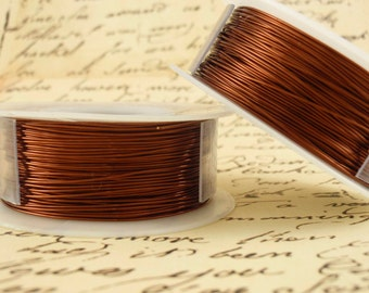 Brown Artistic Wire - Permanently Colored - You Pick Gauge 10, 12, 14, 16, 18, 20, 22, 24, 30 – 100% Guarantee