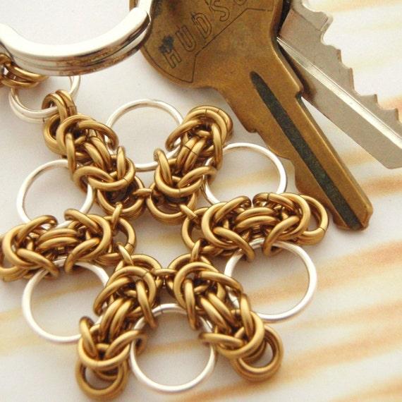Half Price SALE Byzantine Flower Key Chain Kits - Versatile, Fun, and Easy - 4 Keychains