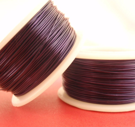 SALE 20 gauge Purple Wire - Enameled Coated Copper - Small Coil - 30 Feet - 9.2 Meters - 100% Guarantee