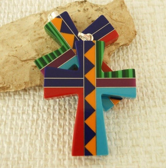 3 South West Cross Pendants with Bails - 32mm X 40mm - Intarcia Style - Clearance SALE