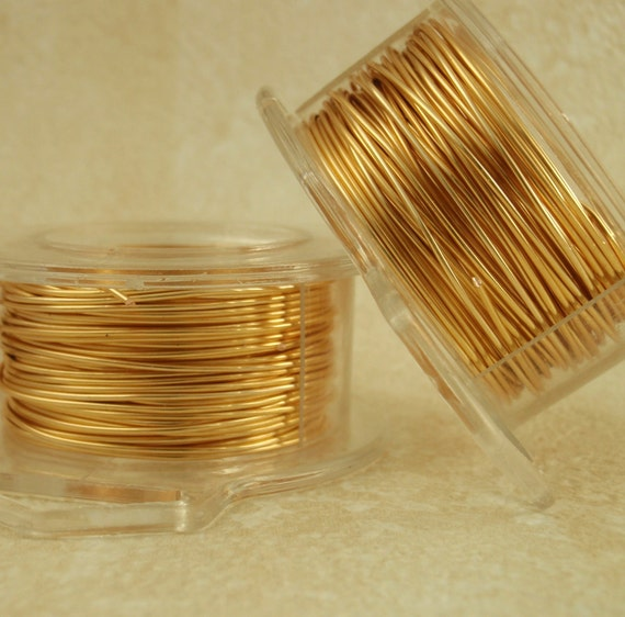 Economical 22 gauge Gold Colored Wire - Non Tarnish - 60 feet - 18 Meters - Enameled Coated Copper - 100% Guarantee