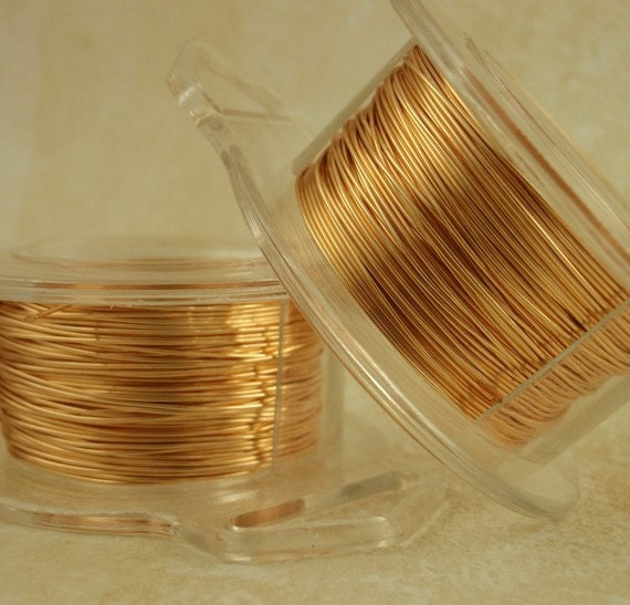 SALE Economical 28 gauge Gold Colored Wire -  200 Feet Non Tarnish - Enameled Coated Copper - 60 Meters - 100% Guarantee