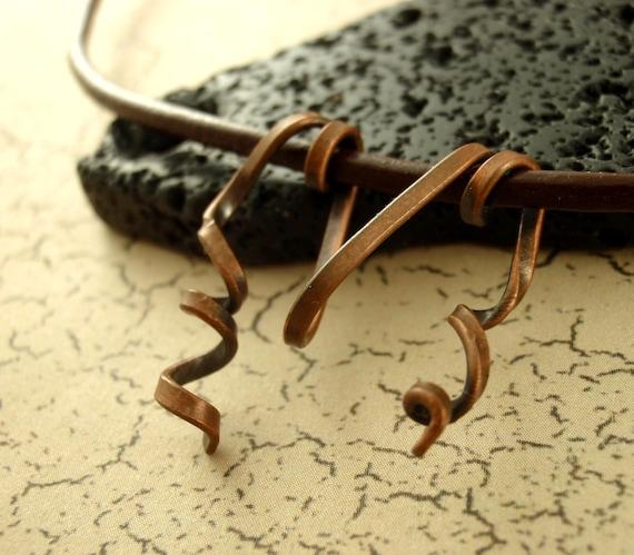 1 Handmade Ribbon Pendant - Copper, Brass, Bronze, Stainless Steel, Aluminum, Black Iron