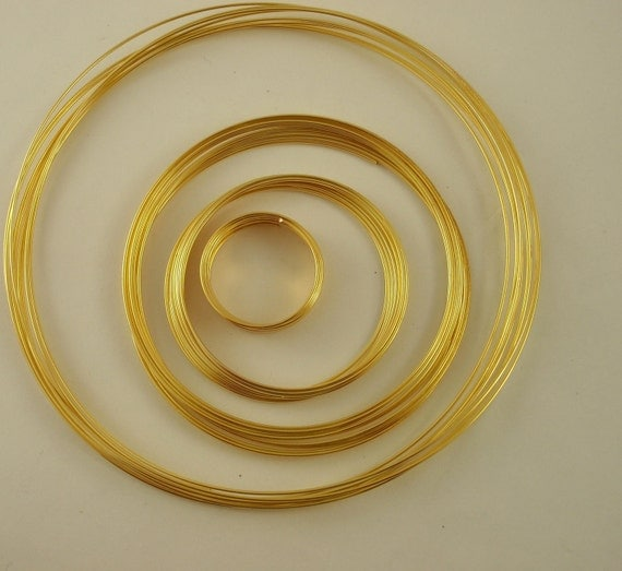 Gold Plated Memory Wire Sampler - 39 Loops - Perfect for a Variety of Rings, Bracelets and Necklaces