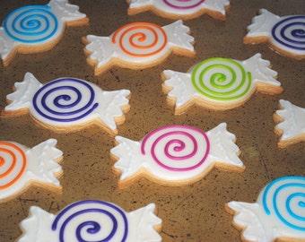 Candy Hand Decorated Sugar Cookies - 1 Dozen