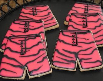 Zebra Valentine Boxer Hand Decorated Iced Sugar Cookies - 1 Dozen