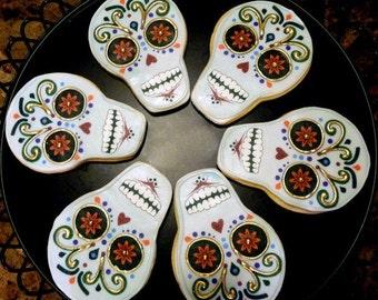 Dia de los muertos - Day of the Dead Cookies - 1 Dozen