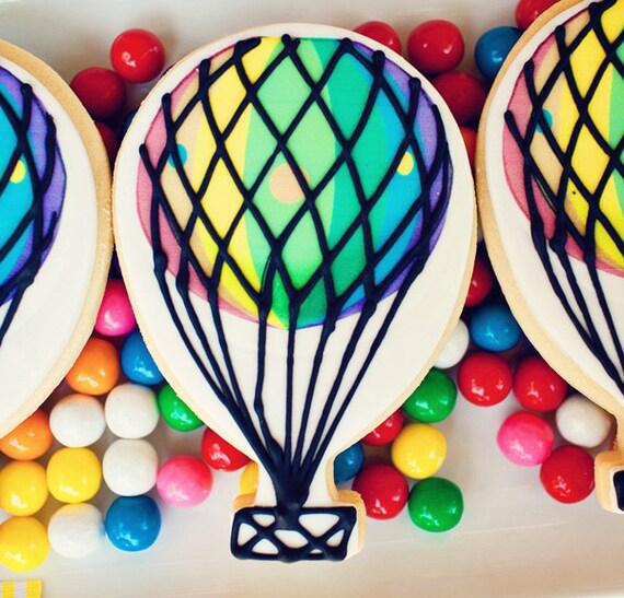 Hot Air Balloon Cookies - Half Dozen