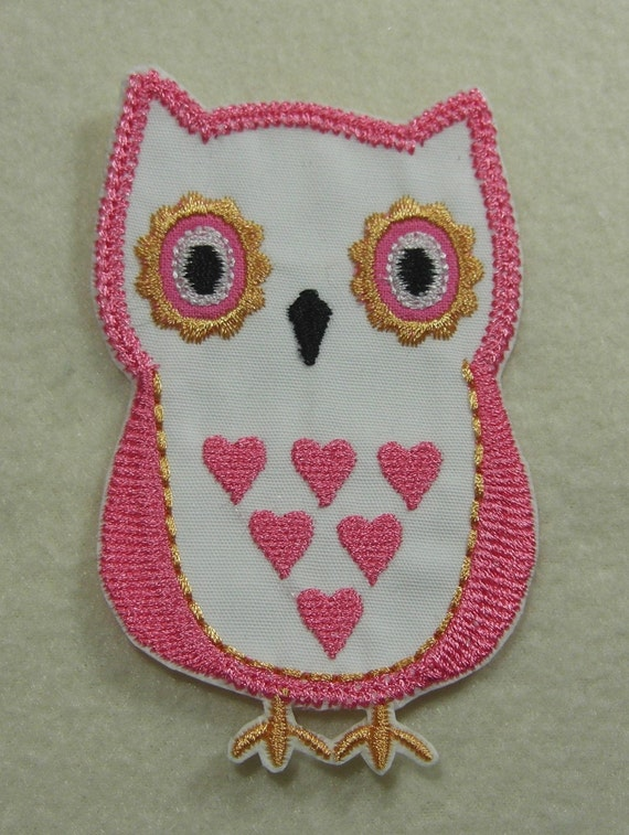 Owl Fabric Embroidered Iron On Applique Patch SALE