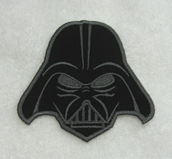 Darth Vader Fabric Embroidered Iron On or Sew On Applique Patch