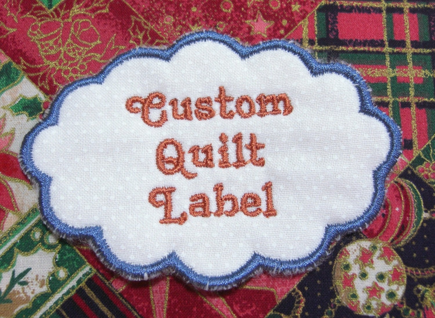 new custom quilt label cloud your message