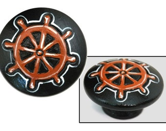Pirate Ship's Wheel Knob