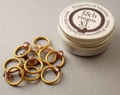 ringOs XL Dusky Sunset - Snag-Free Ring Stitch Markers for Knitting