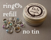 ringOs REFILL - Serenity - Snag-Free Ring Stitch Markers for Knitting