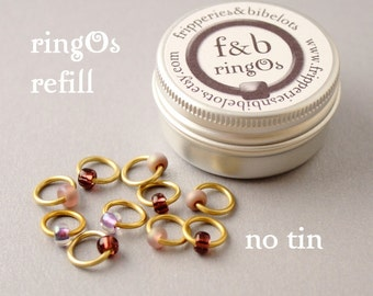 ringOs REFILL - Dusky Sunset - Snag-Free Ring Stitch Markers for Knitting