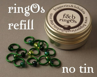 ringOs REFILL - Evergreen - Snag-Free Ring Stitch Markers for Knitting