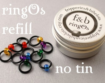 ringOs REFILL - Stained Glass Window -  Snag-Free Ring Stitch Markers for Knitting