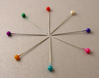 Rainbow Ball Pins for Sewing Up, Marking and Blocking Knitting