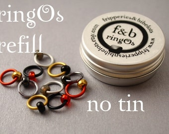 ringOs REFILL - Cold Winds - Snag-Free Ring Stitch Markers for Knitting