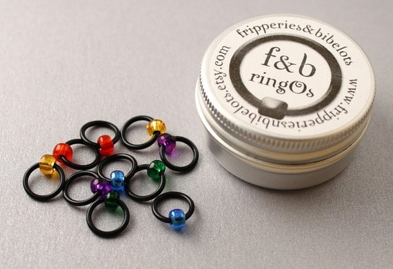 ringOs Stained Glass Window - Snag-Free Ring Stitch Markers for Knitting
