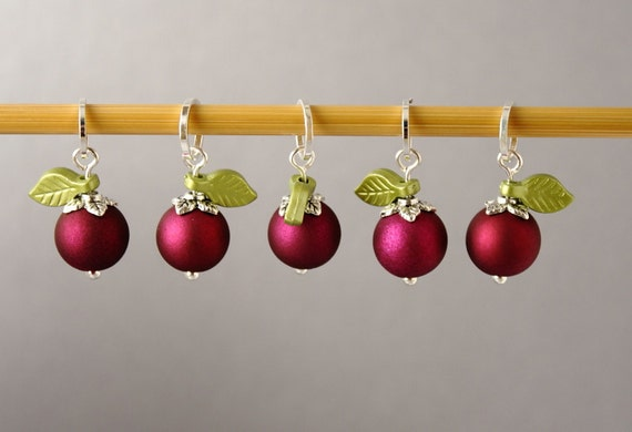 Juicy Blackcurrants Stitch Markers for Knitting