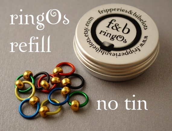 ringOs REFILL - Summer Games - Snag-Free Ring Stitch Markers for Knitting