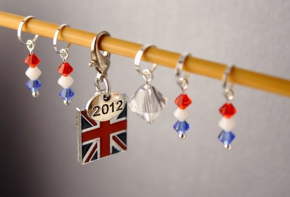 Diamond Britannia Stitch Markers for Knitting