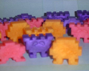 SPACE INVADERS SOAP, party favor soap, alien soap-blast from the past-video games- boys and girls soaps-video game soap-24 soap characters