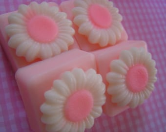 Valentine Soap, PINK PIKAKI FLOWER Soap, Daisy Soap, Summer Soap. Cameo Soap, Shower Favor, Glycerin Soap, Guest Soap, Flower Floral Soap,